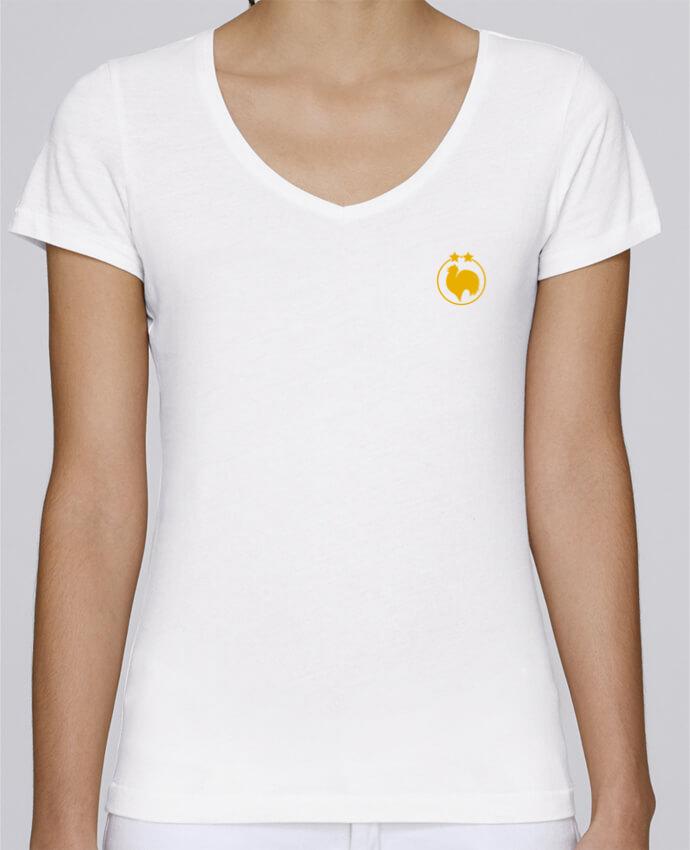 T-shirt femme brodé Stella Chooses Champion 2 étoiles brodé par tunetoo