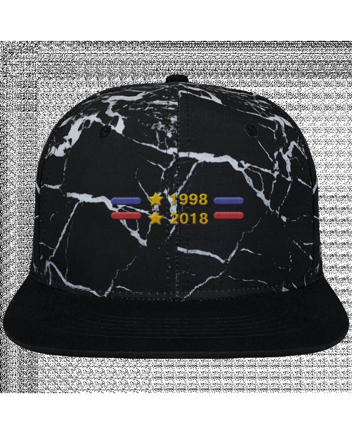 Casquette SnapBack Couronne Graphique Minéral Noir Champions du monde 2018 brodé brodé et toile imprimée motif minéral
