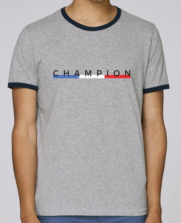 T-Shirt Ringer Contrasté Homme Stanley Holds Champion pour femme par Nana