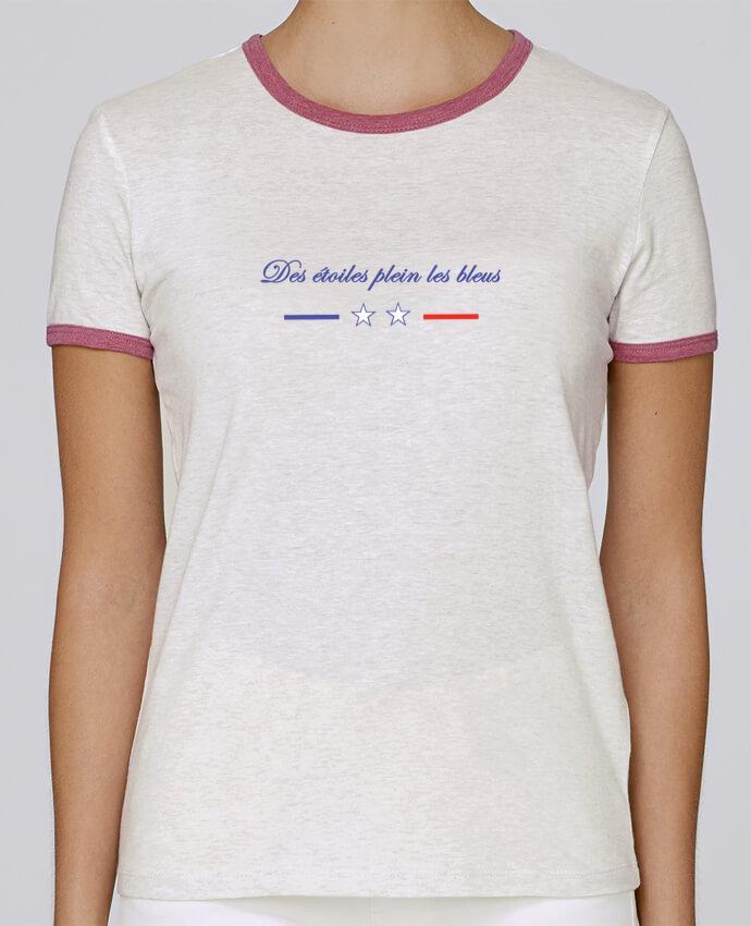T-shirt Femme Stella Returns DES ETOILES PLEIN LES BLEUS pour femme par Tee Smiles