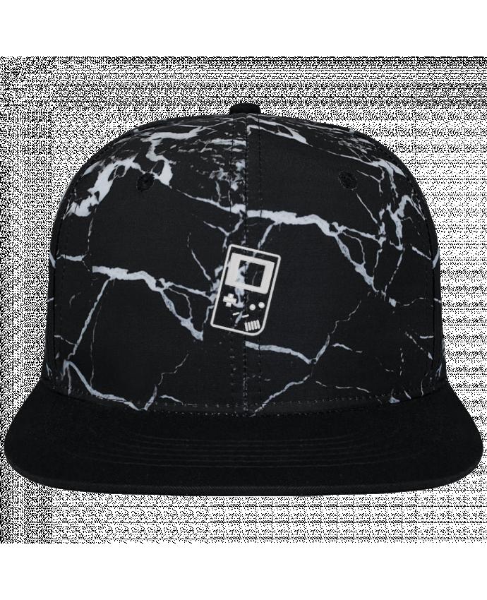Casquette SnapBack Couronne Graphique Minéral Noir Gameboy brodé brodé et toile imprimée motif minéral noir et blanc