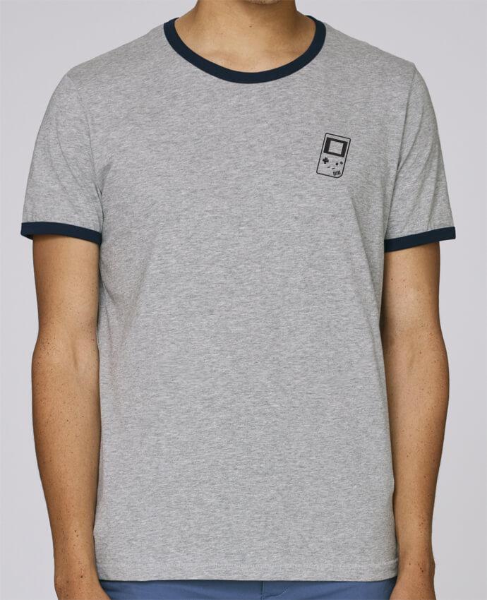 T-Shirt Ringer Contrasté Homme Stanley Holds homme brodé Gameboy brodé par tunetoo
