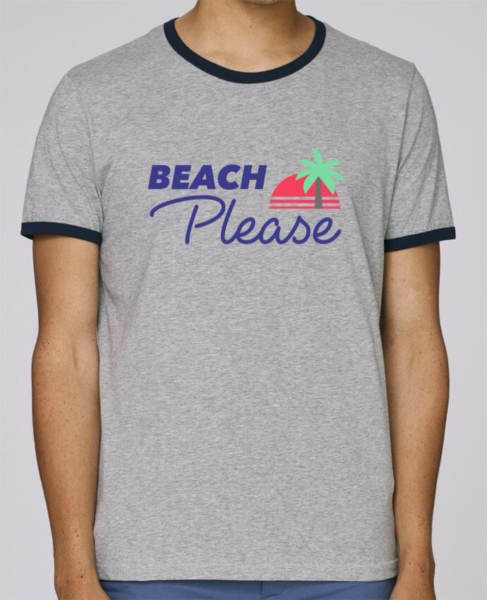 T-Shirt Ringer Contrasté Homme Stanley Holds Beach please pour femme par Ruuud