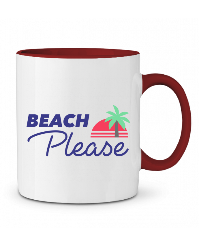 Mug en Céramique Bicolore Beach please Ruuud
