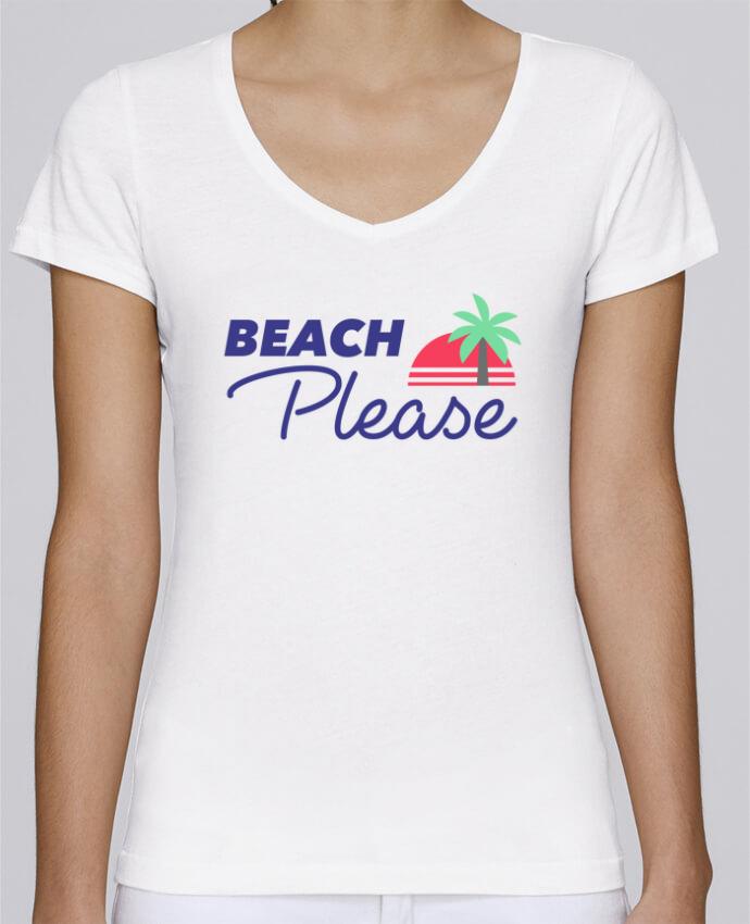 T-shirt Femme Col V Stella Chooses Beach please par Ruuud