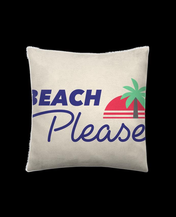Coussin Toucher Peau de Pêche 41 x 41 cm Beach please par Ruuud