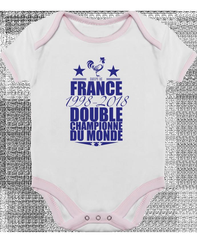 Body Bébé Contrasté Equipe de france double championne du monde 1998-2018  par yazz 7c0b24f2330