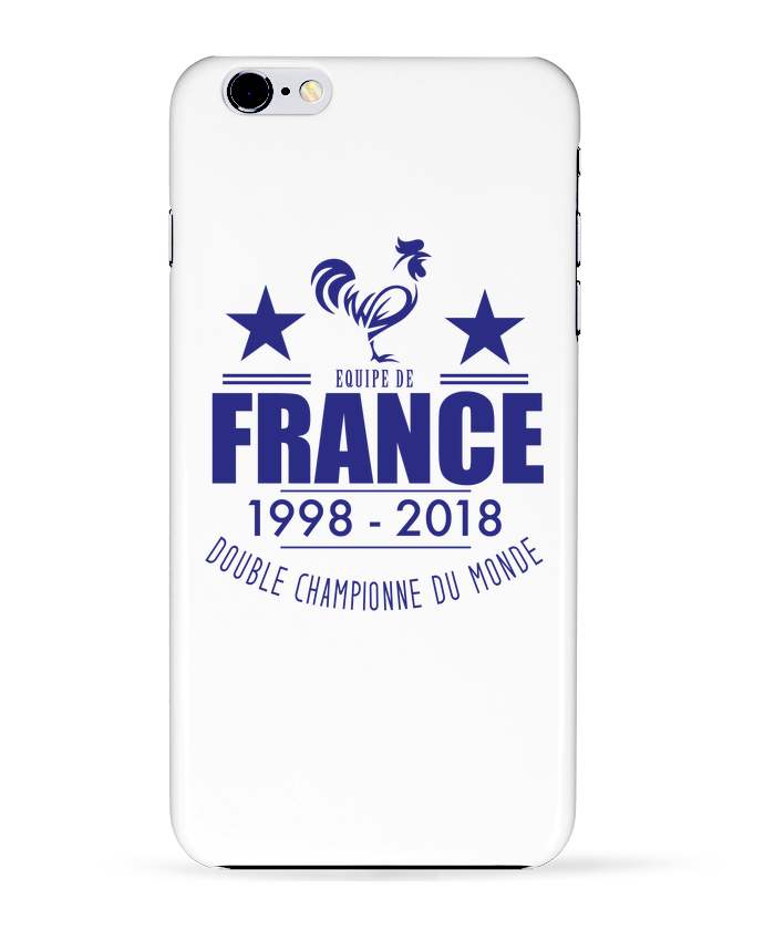 Coque 3D Iphone 6+ Equipe de france double championne du monde de Footeez