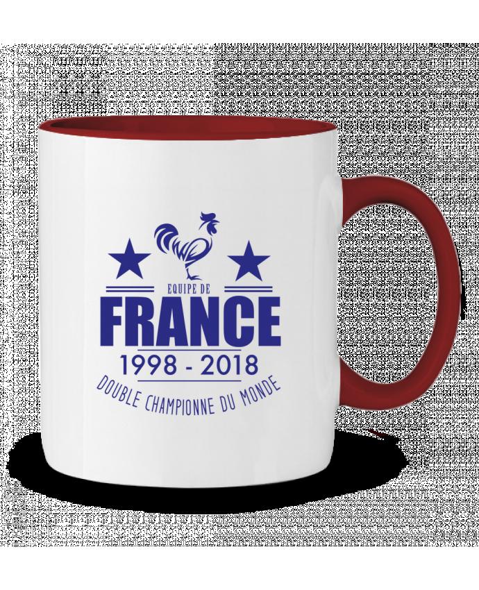 Mug en Céramique Bicolore Equipe de france double championne du monde Footeez