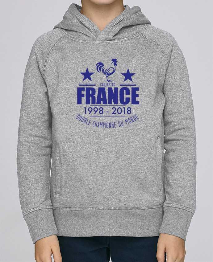 Sweat à Capuche Enfant Stanley Mini Base Equipe de france double championne du monde par Yazz