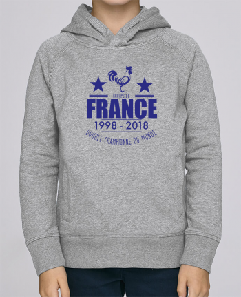 Sweat à Capuche Enfant Stanley Mini Base Equipe de france double championne du monde par Yazz