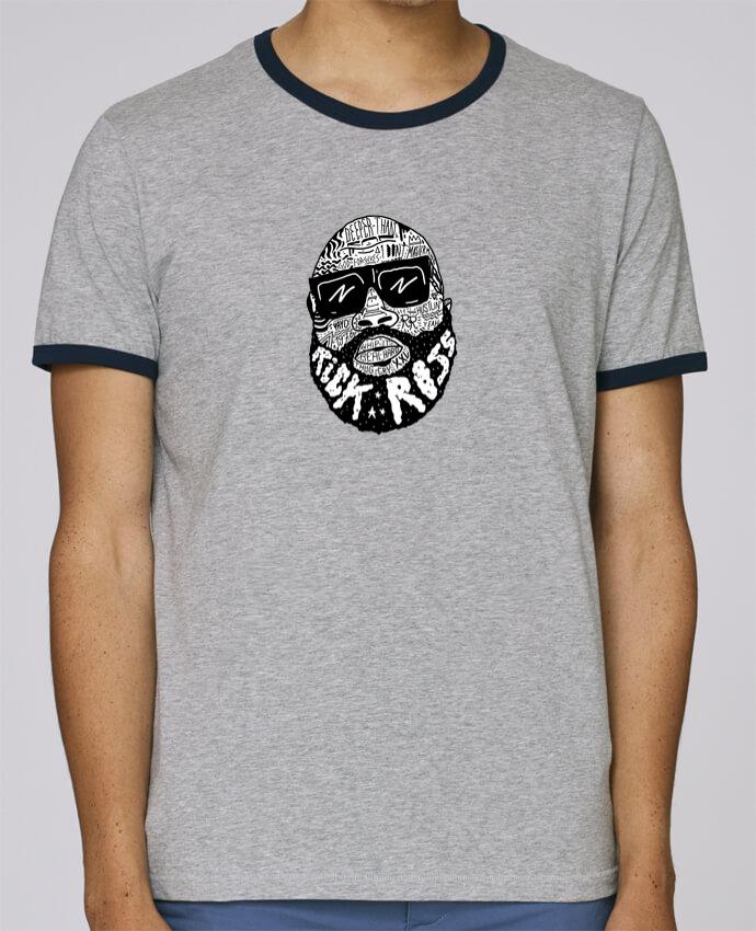 T-Shirt Ringer Contrasté Homme Stanley Holds Rick Ross head pour femme par Nick cocozza