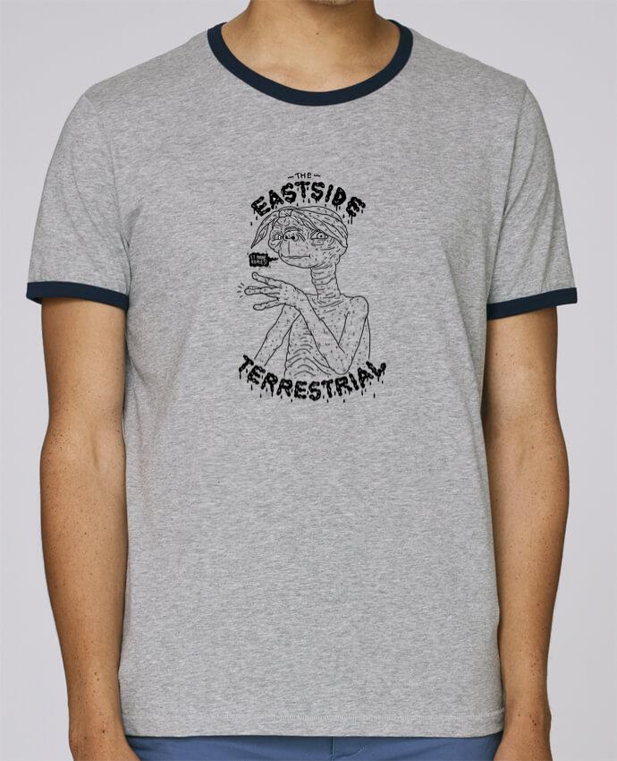 T-Shirt Ringer Contrasté Homme Stanley Holds Gangster E.T pour femme par Nick cocozza