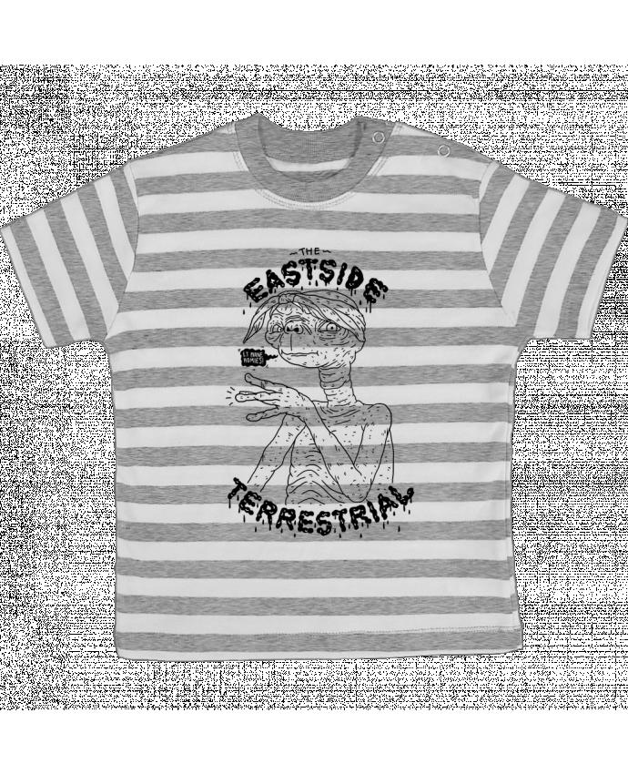 T-shirt Bébé à Rayures Gangster E.T par Nick cocozza