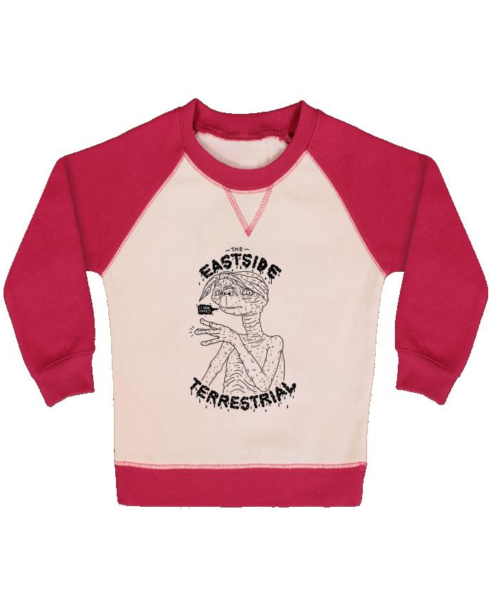 Sweat Shirt Bébé Col Rond Manches Raglan Contrastées Gangster E.T par Nick cocozza