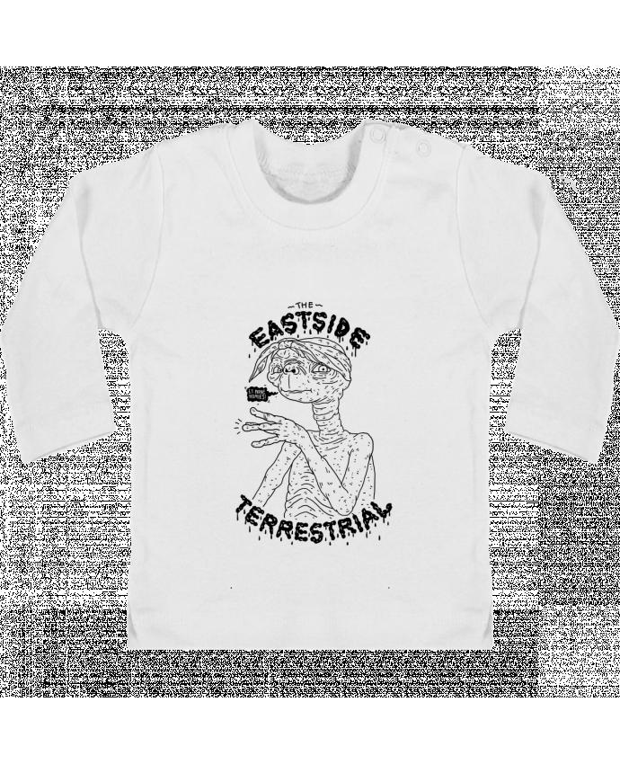T-shirt Bébé Manches Longues Boutons Pression Gangster E.T manches longues du designer Nick cocozza