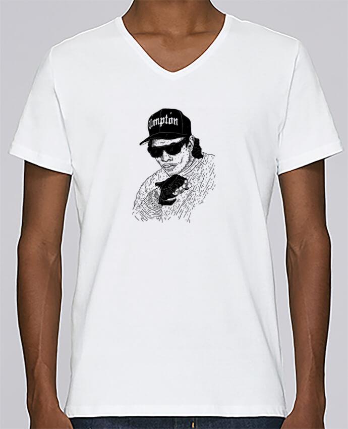 T-shirt Col V Homme Stanley Relaxes Eazy E Rapper par Nick cocozza