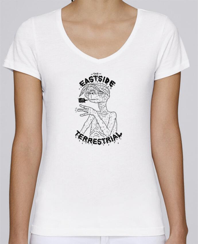 T-shirt Femme Col V Stella Chooses Gangster E.T par Nick cocozza