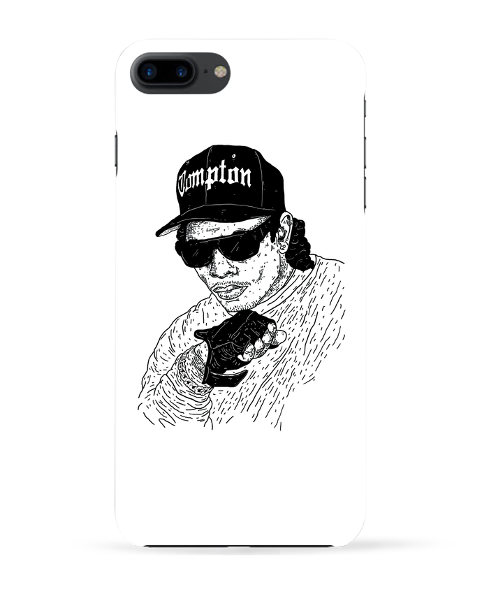 Coque 3D Iphone 7+ Eazy E Rapper par Nick cocozza