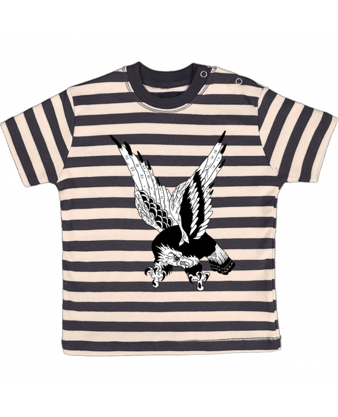 T-shirt Bébé à Rayures Eagle Art par Nick cocozza