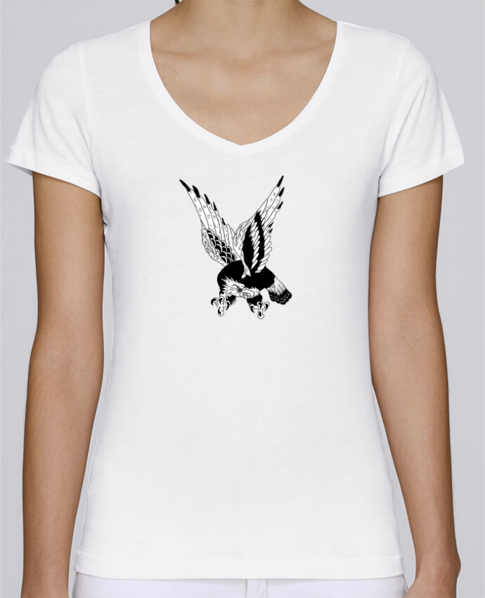 T-shirt Femme Col V Stella Chooses Eagle Art par Nick cocozza