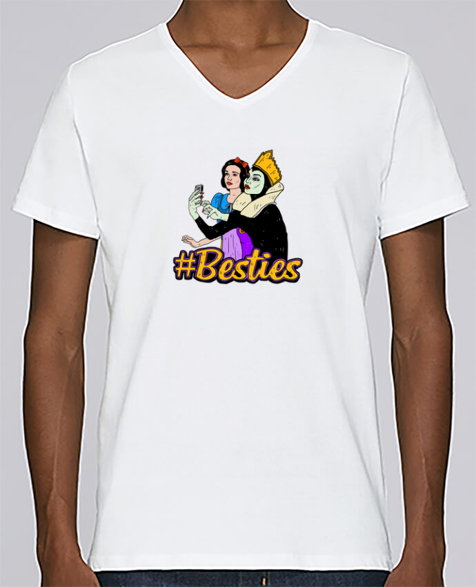 T-shirt Col V Homme Stanley Relaxes Besties Snow White par Nick cocozza