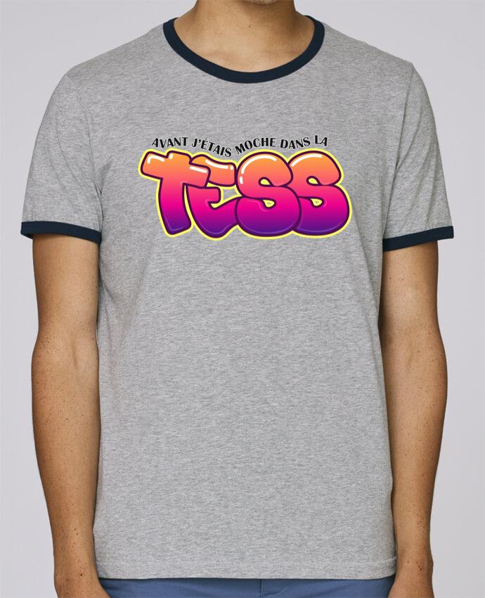T-Shirt Ringer Contrasté Homme Stanley Holds PNL Moche dans la Tess pour femme par tunetoo