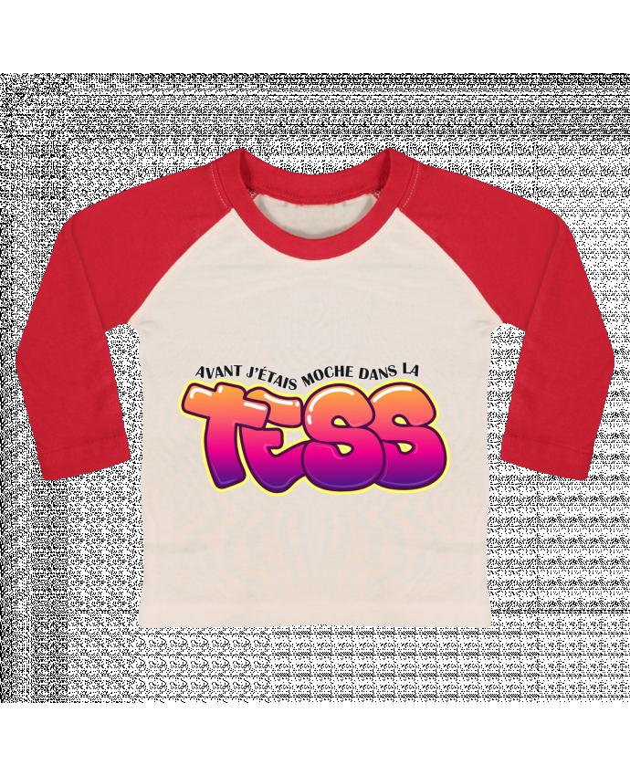 T-shirt Bébé Baseball Manches Longues PNL Moche dans la Tess par tunetoo
