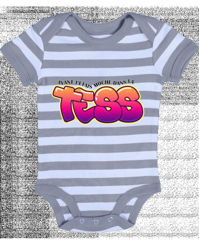 Body Bébé à Rayures PNL Moche dans la Tess - tunetoo