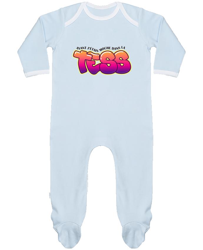 Pyjama Bébé Manches Longues Contrasté PNL Moche dans la Tess par tunetoo