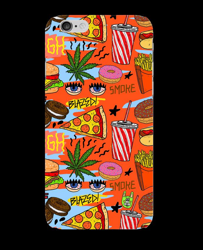 Coque iPhone 6 Junk food pattern par Nick cocozza