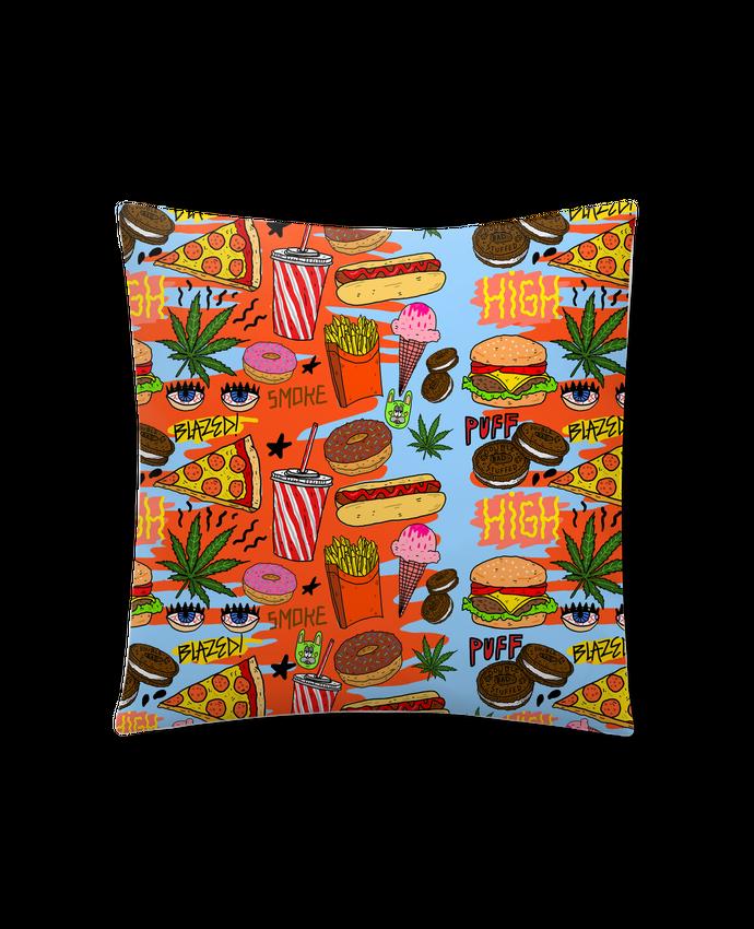Coussin Synthétique Doux 41 x 41 cm Junk food pattern par Nick cocozza