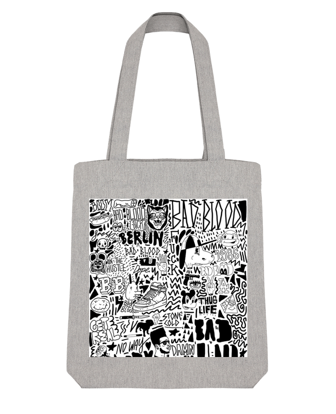 Tote Bag Stanley Stella Black White Street art Pattern par Nick cocozza