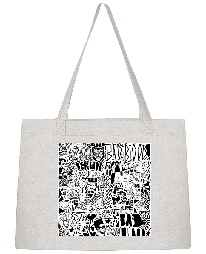 Sac Cabas Shopping Stanley Stella Black White Street art Pattern par Nick cocozza