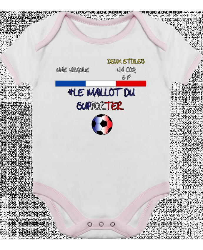 Body Bébé Contrasté LE MAILLOT DU SUPPORTER EQUIPE DE FRANCE FOOT par  SMILERZOFFICIAL 1adacc40cb9
