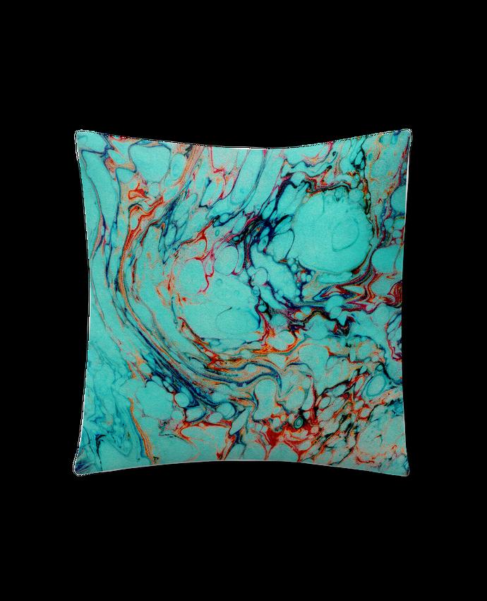 Coussin Synthétique Doux 41 x 41 cm Abstrait bleu par Les Caprices de Filles