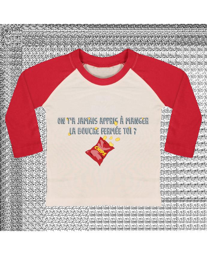 T-shirt Bébé Baseball Manches Longues Manger la bouche fermée Citation Dikkenek par tunetoo
