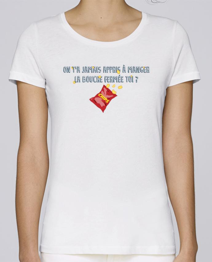 T-shirt Femme Stella Loves Manger la bouche fermée Citation Dikkenek par tunetoo