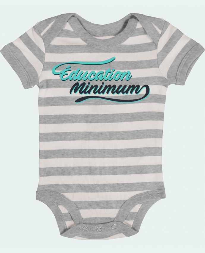 Body Bébé à Rayures Education minimum citation Dikkenek - tunetoo