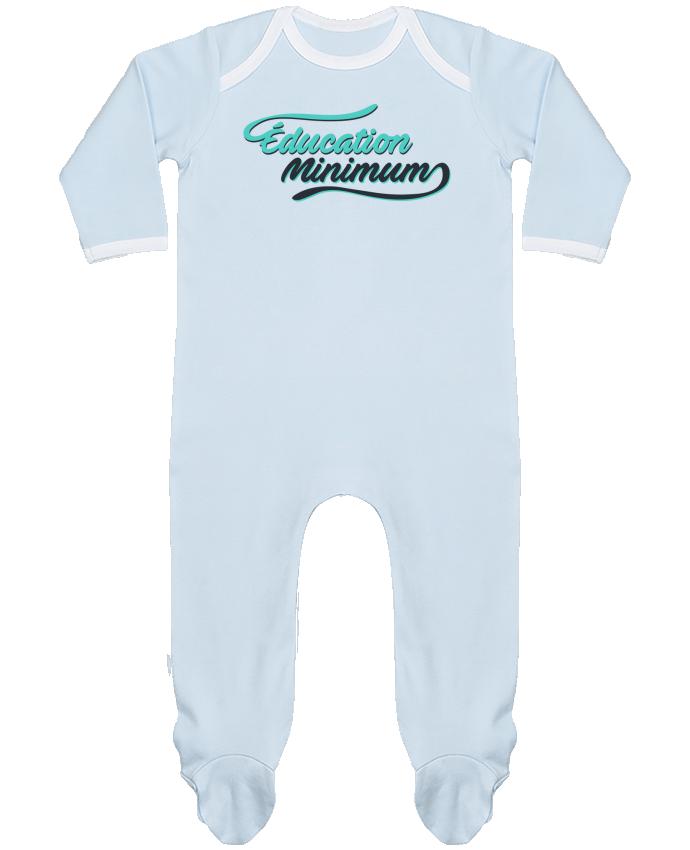 Pyjama Bébé Manches Longues Contrasté Education minimum citation Dikkenek par tunetoo