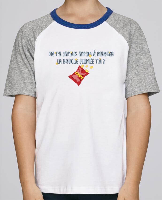 Tee-Shirt Enfant Stanley Mini Jump Short Sleeve Manger la bouche fermée Citation Dikkenek par tunetoo