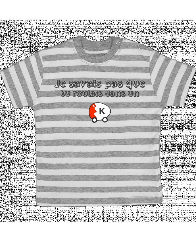T-shirt Bébé à Rayures Voiture Kinder Citation Dikkenek par tunetoo