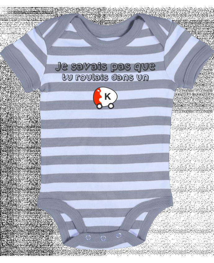 Body Bébé à Rayures Voiture Kinder Citation Dikkenek - tunetoo