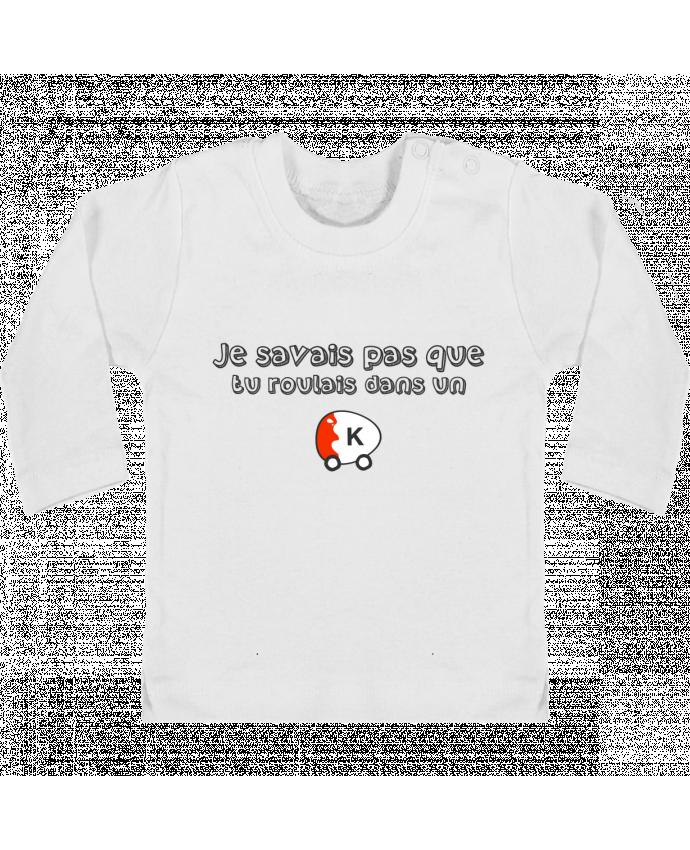 T-shirt Bébé Manches Longues Boutons Pression Voiture Kinder Citation Dikkenek manches longues du designer tunetoo