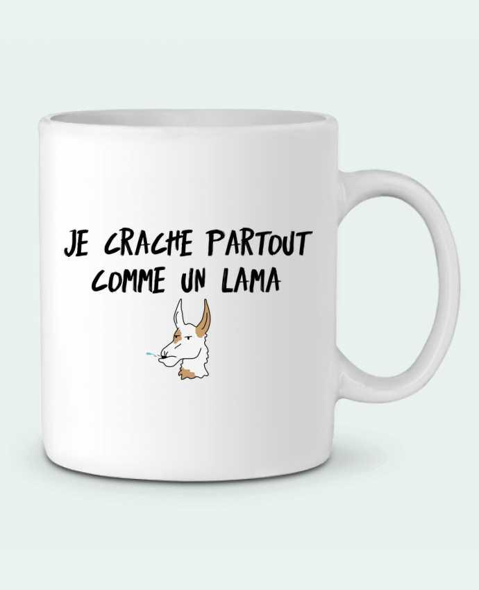 Mug en Céramique Je crache comme un Lama Citation Dikkenek par tunetoo
