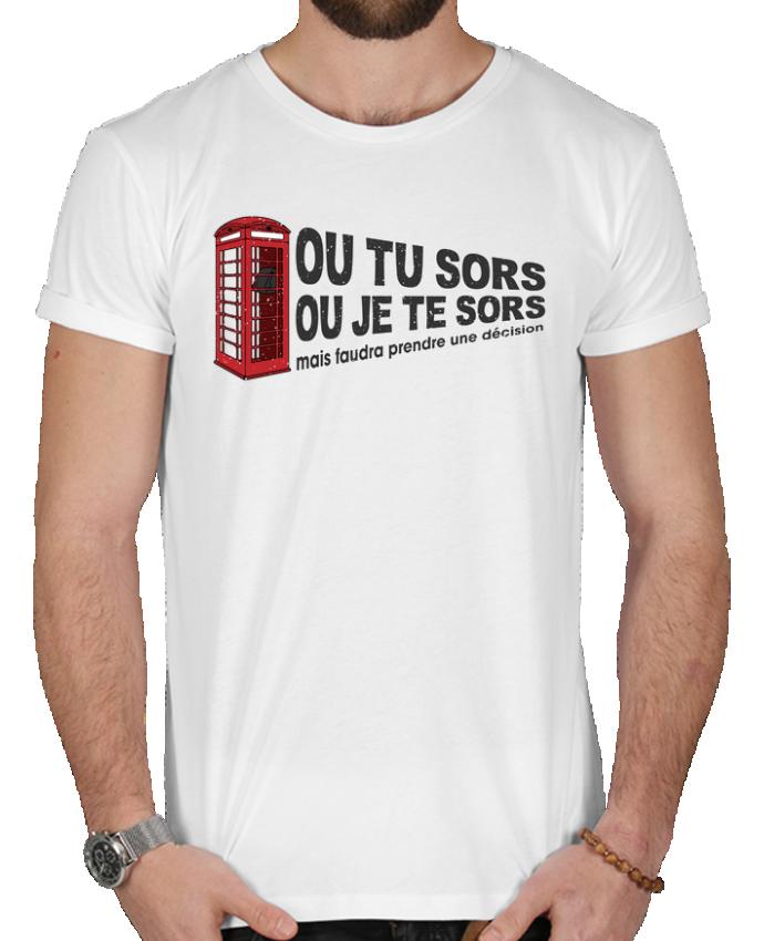T-shirt  Homme 180g Ou tu sors ou j'te sors Citation Dikkenek par tunetoo