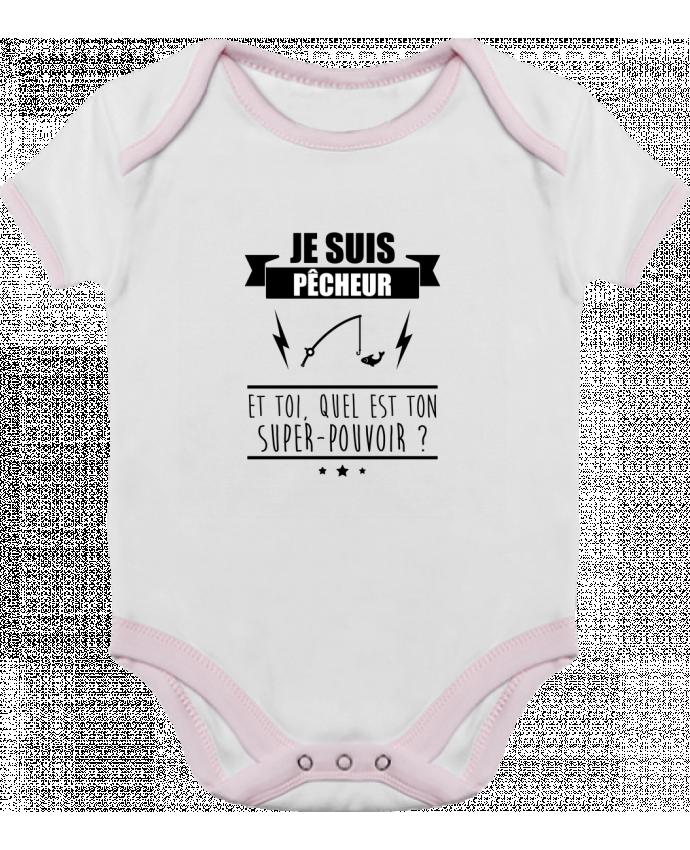 Body Bébé Contrasté Je suis pêcheur et toi, quel est on super-pouvoir ? par Benichan
