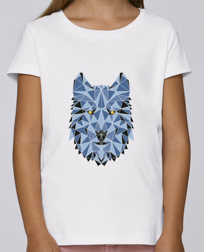 T-shirt Fille Mini Stella Draws wolf - geometry 3 par /wait-design