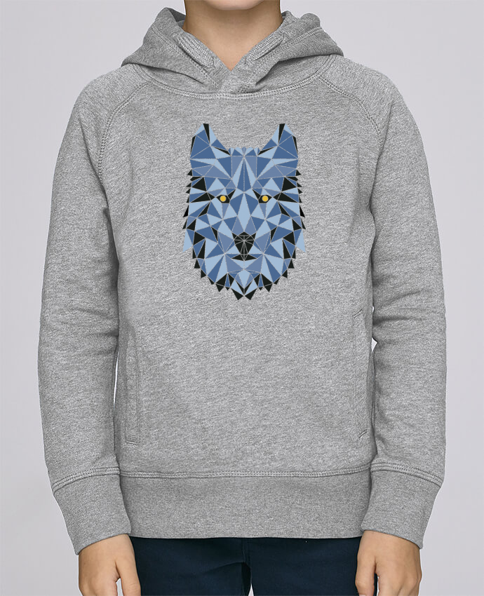 Sweat à Capuche Enfant Stanley Mini Base wolf - geometry 3 par /wait-design