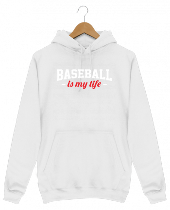 Sweat Shirt à Capuche Homme Baseball is my life par Original t-shirt